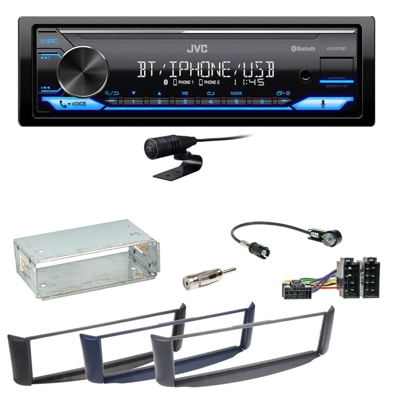 JVC KD-X372BT Bluetooth FLAC USB MP3 WMA Einbauset Smart ForTwo 450