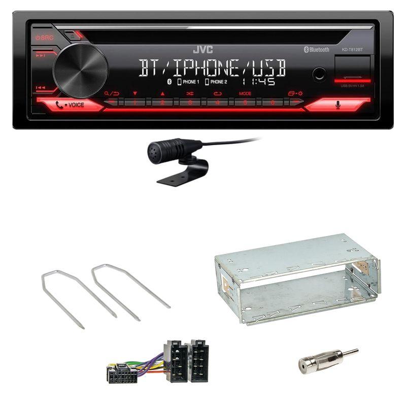 JVC KD-T812BT CD FLAC Bluetooth MP3 Einbauset für Dacia Logan Sandero bis 2011