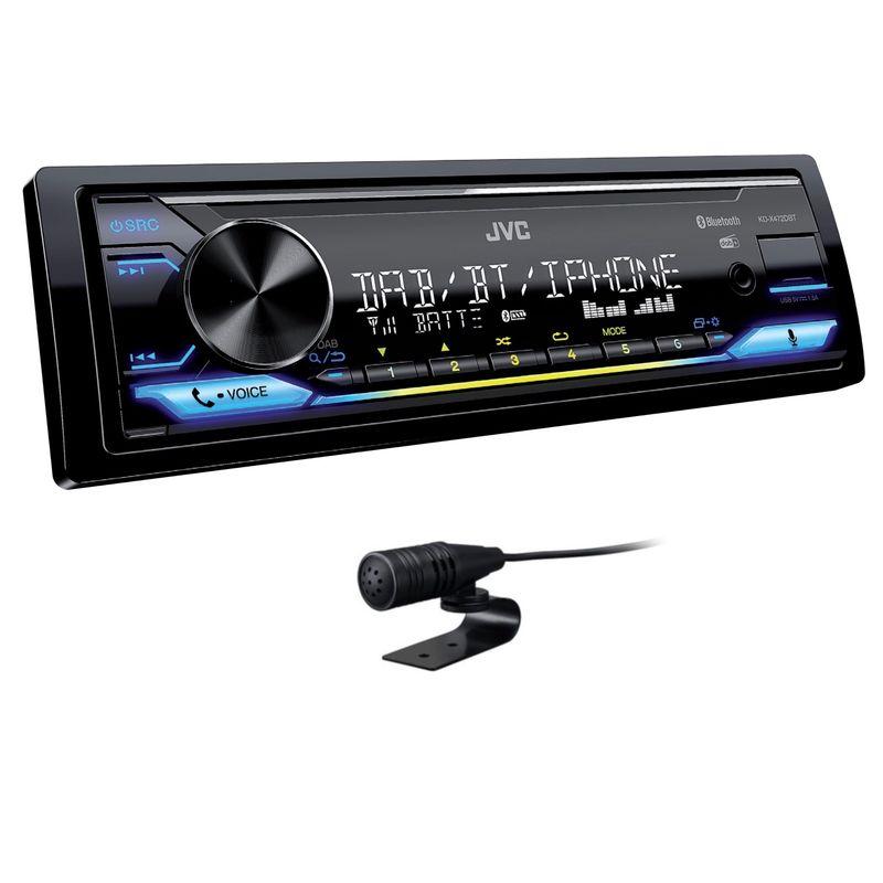 JVC KD-X472DBT USB AUX MP3 FLAC Digitalradio Bluetooth DAB+ Autoradio