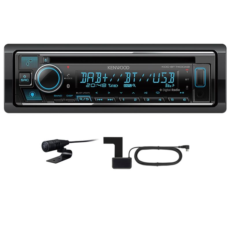 KENWOOD KDC-BT740DAB USB Autoradio Bluetooth Digitalradio MP3 inkl DAB Antenne