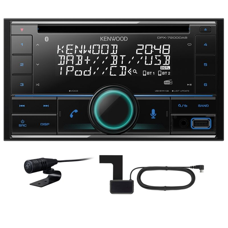 KENWOOD DPX-7200DAB 2 DIN CD Autoradio USB Digitalradio Bluetooth inkl Antenne