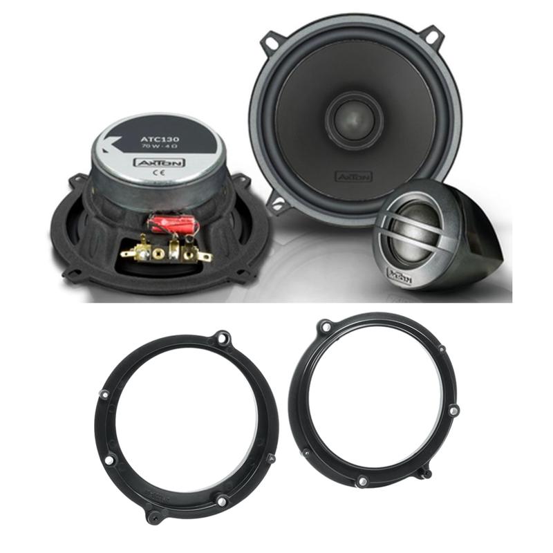 Axton ATC130 2 Wege Lautsprecher System vorne Einbauset für Audi A4 B5