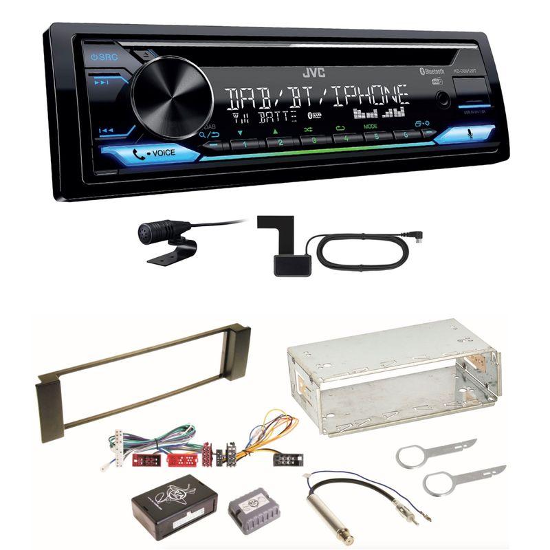 JVC KD-DB912BT Digitalradio Bluetooth Einbauset für Audi A3 8L A6 4B
