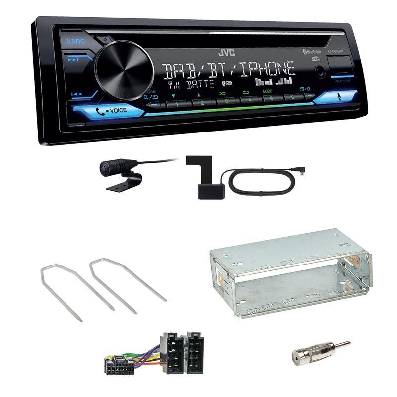 JVC KD-DB912BT Digitalradio Bluetooth Einbauset für Dacia Duster bis 2012