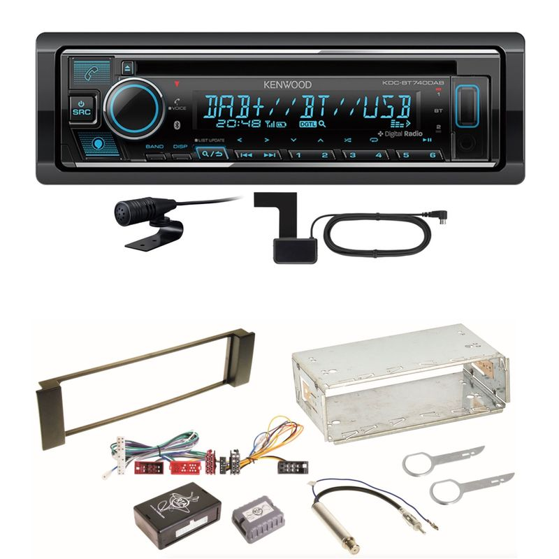 Kenwood KDC-BT740DAB Digitalradio Bluetooth Einbauset für Audi A3 8L A6 4B