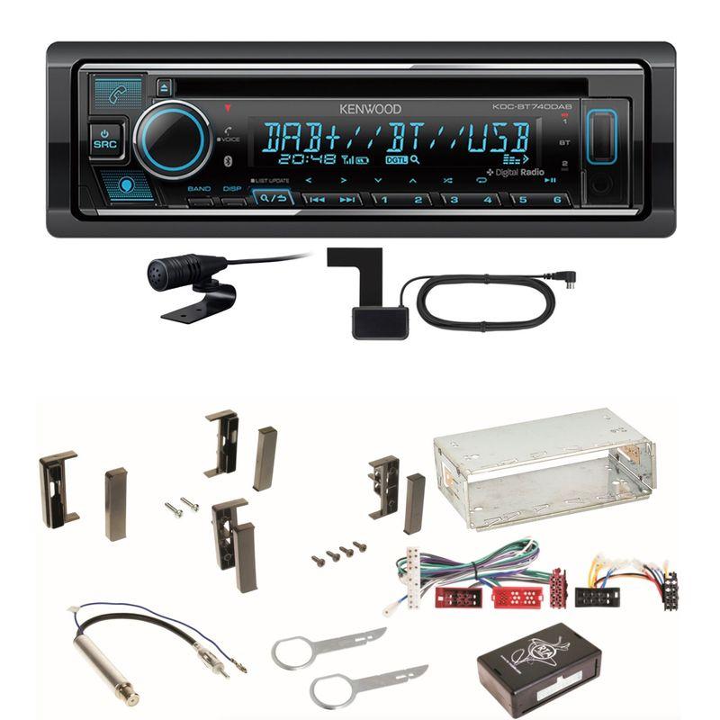 Kenwood KDC-BT740DAB Digitalradio Bluetooth Einbauset für Audi A3 8L