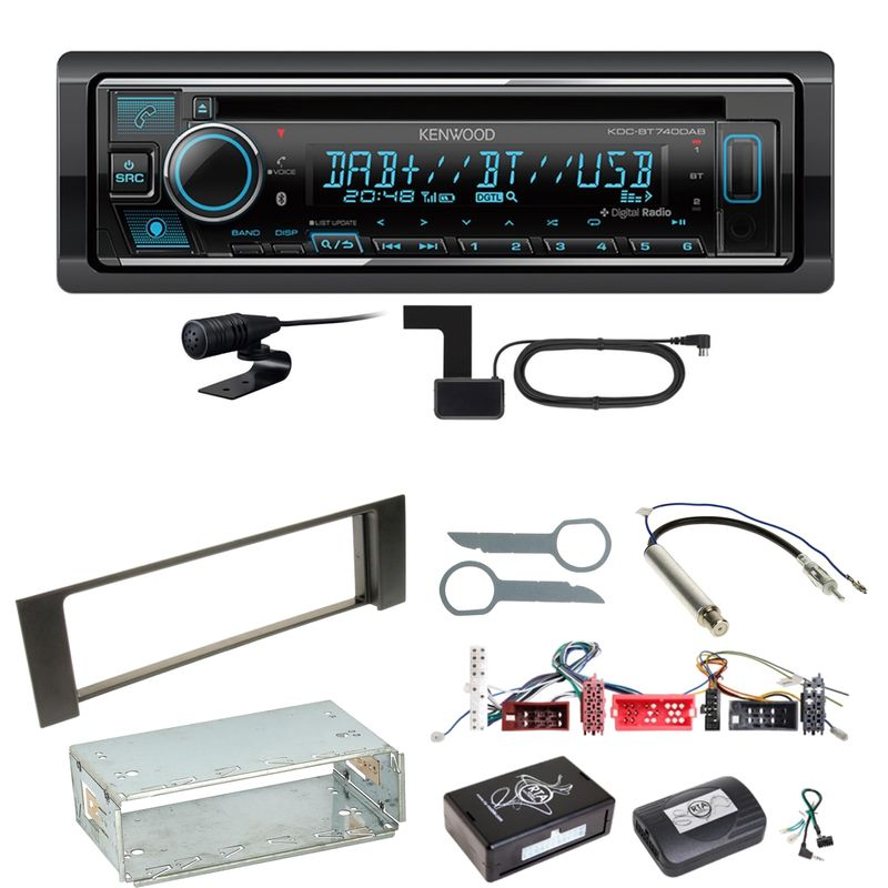 Kenwood KDC-BT740DAB Digitalradio Bluetooth Einbauset für Audi A4 B6 B7
