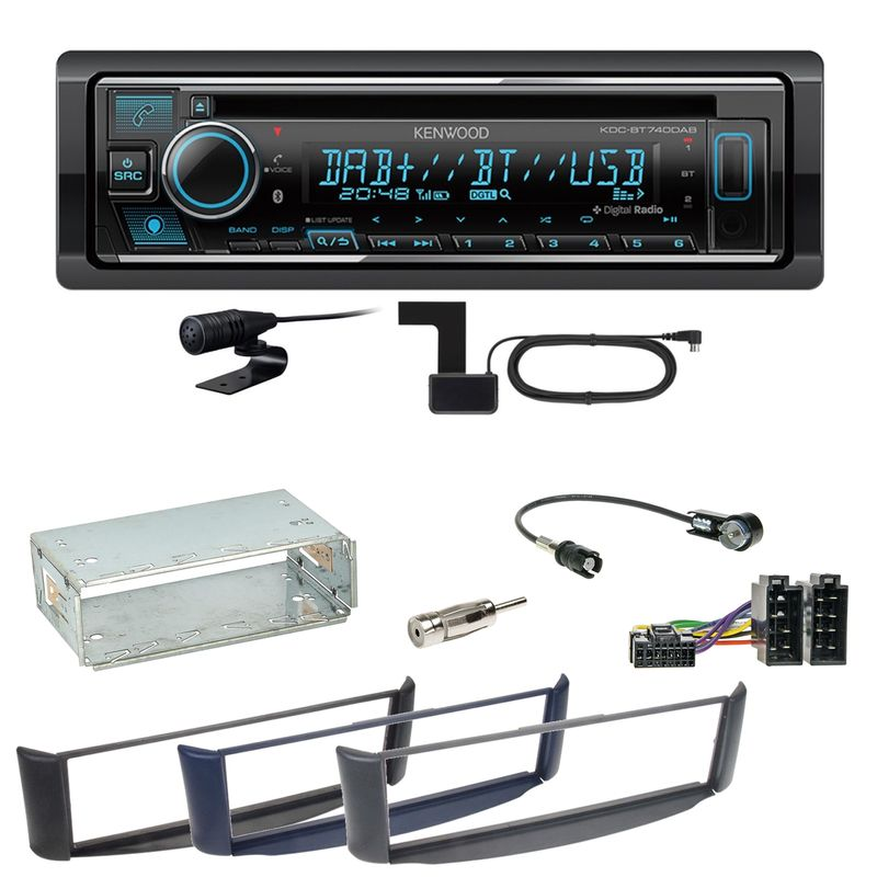 Kenwood KDC-BT740DAB Digitalradio Bluetooth Einbauset Smart ForTwo 450