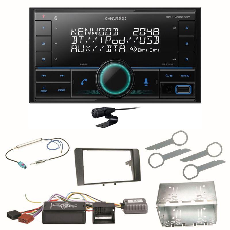 Kenwood DPX-M3200BT Bluetooth USB Autoradio Einbauset für Audi A3 8P 8PA