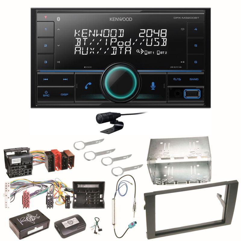 Kenwood DPX-M3200BT Bluetooth USB Einbauset für Audi A4 B6 B7 Seat Exeo