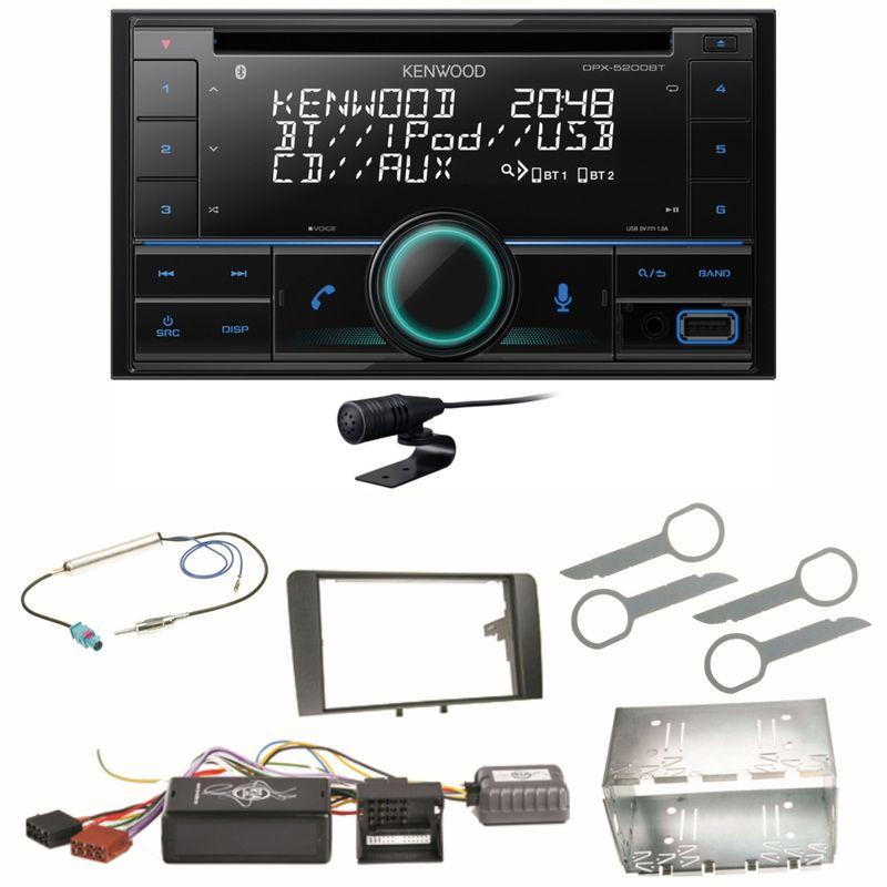Kenwood DPX-5200BT Bluetooth USB CD Autoradio Einbauset für Audi A3 8P 8PA