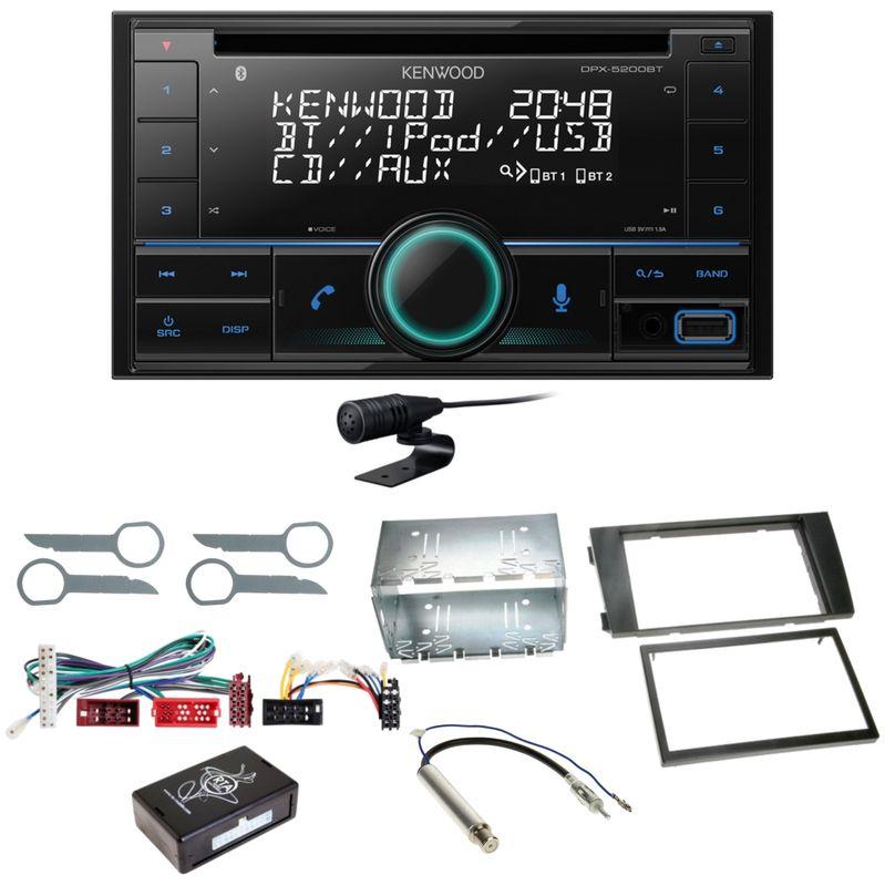 Kenwood DPX-5200BT Bluetooth USB CD Autoradio Einbauset für Audi A6 4B