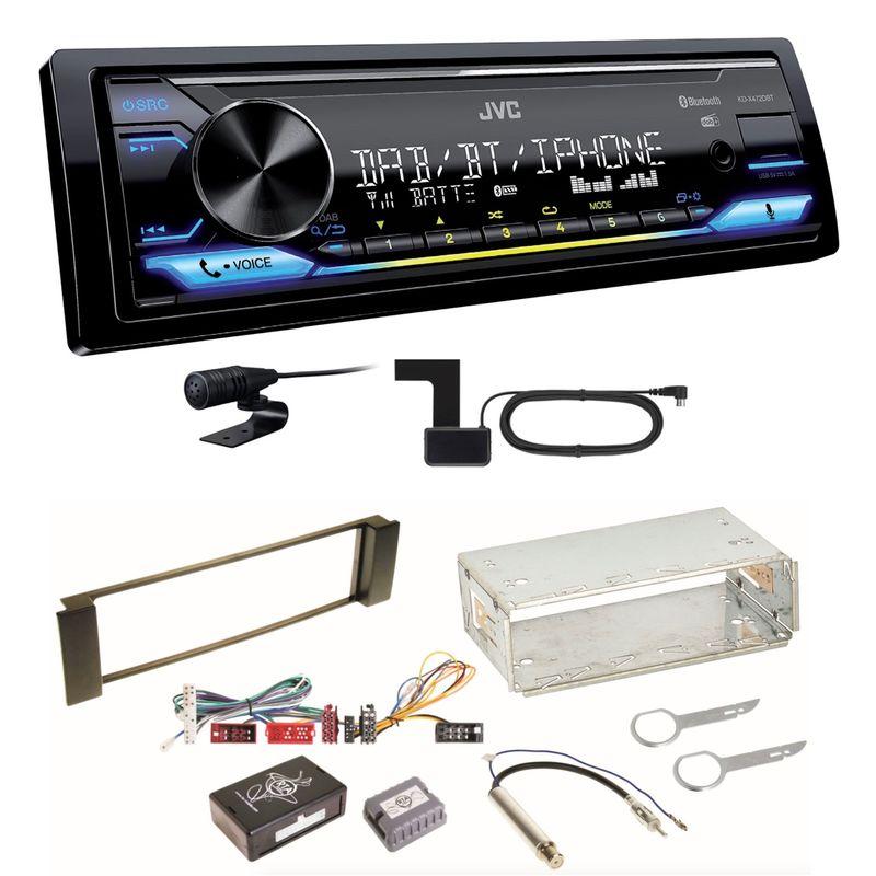 JVC KD-X472DBT Digitalradio Bluetooth FLAC USB Einbauset für Audi A3 8L A6 4B