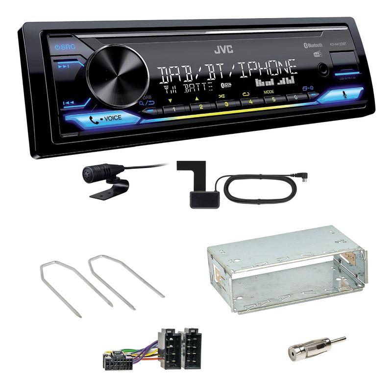 JVC KD-X472DBT Digitalradio Bluetooth MP3 Einbauset für Dacia Duster bis 2012