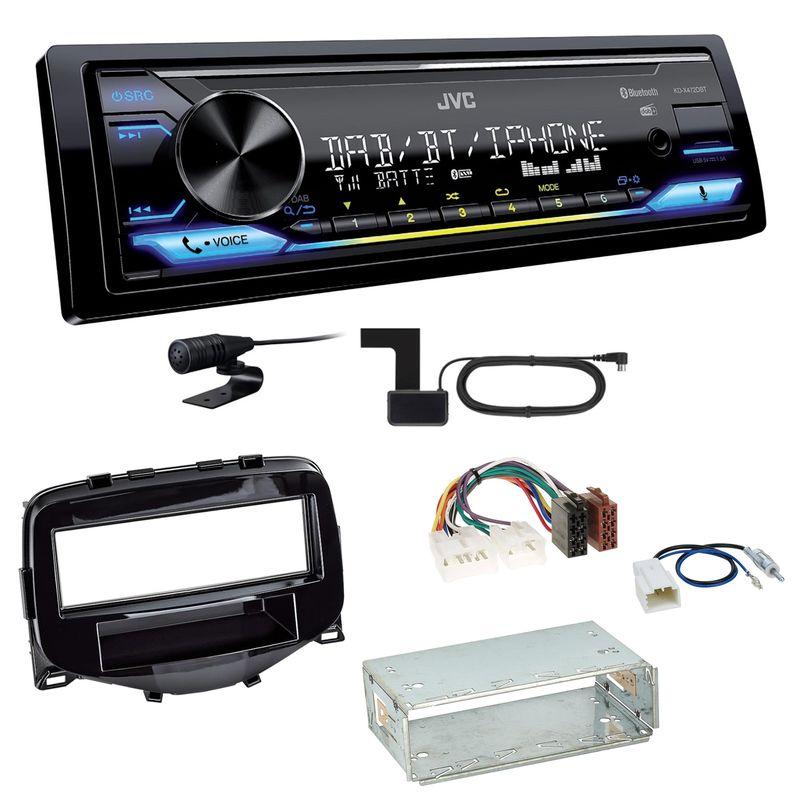 JVC KD-X472DBT Digitalradio USB MP3 Einbauset Toyota Aygo Citroen C1 Peugeot 108