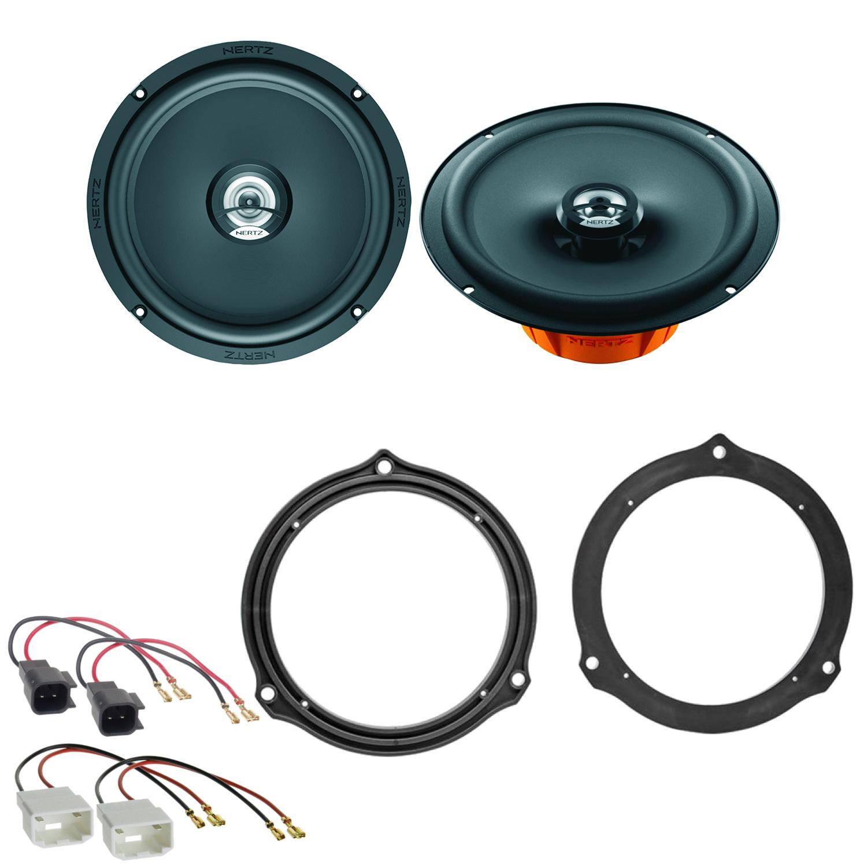 Lautsprecherringe+Adapterkabel für Ford C-Max hintere Tür Lautsprecher 165mm