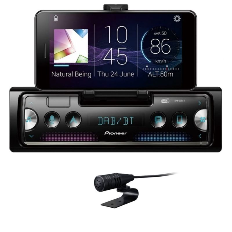 PIONEER SPH-20DAB Smartphone Receiver Digitalradio USB MP3 Autoradio Bluetooth