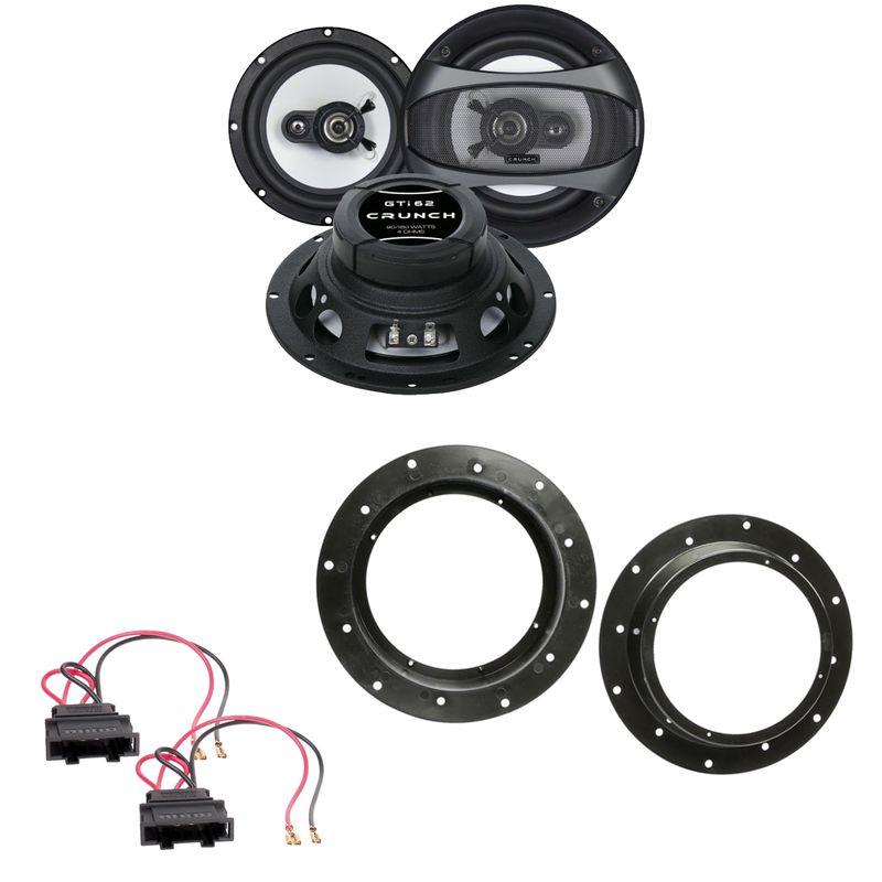 Crunch GTI-62 2-Wege Koaxial Lautsprecher Einbauset vorne passend für Audi Q3 8U