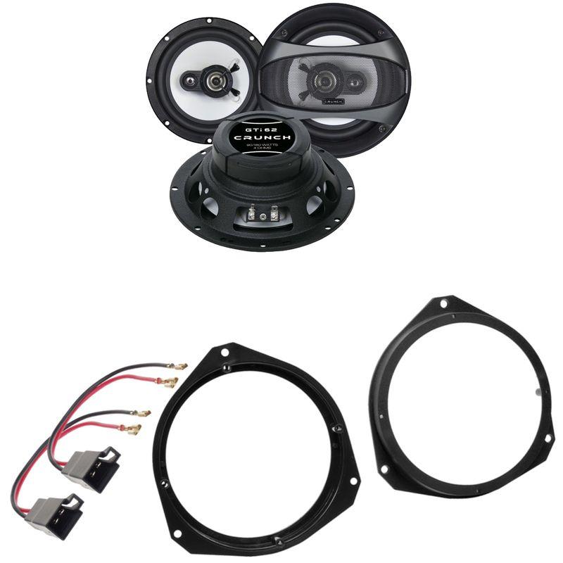 Crunch GTI-62 2-Wege Lautsprecher Einbauset für Fiat Grande Punto 199 500 312