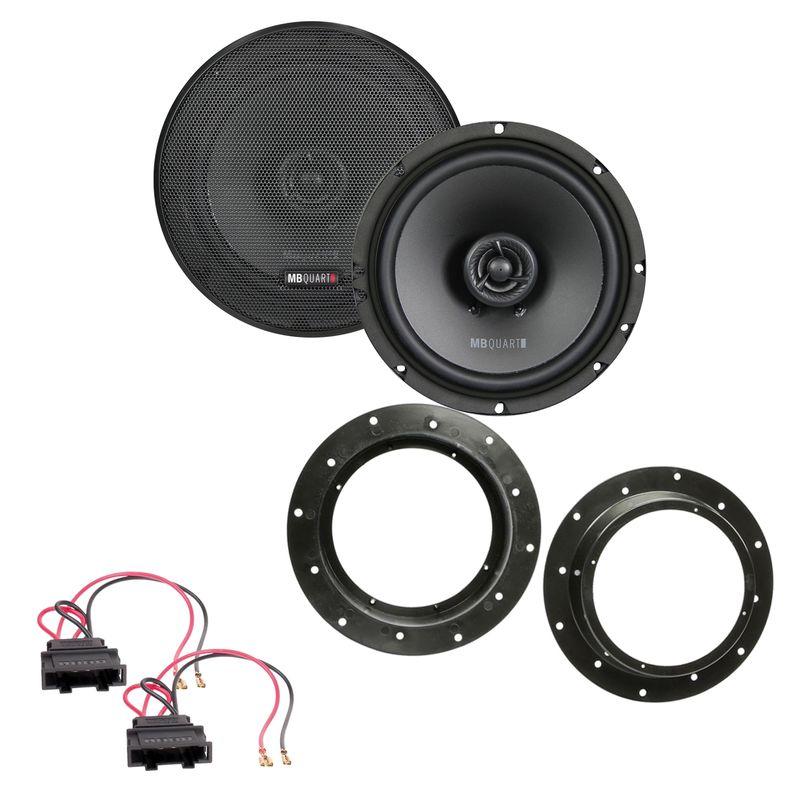 MB QUART QX165 2-Wege Koax Lautsprecher Einbauset vorne passend für Audi Q3 8U