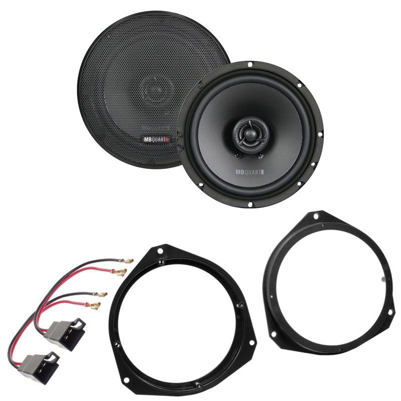 MB QUART QX165 2-Wege Koax Lautsprecher Einbauset für Fiat Punto 188 Tür vorne