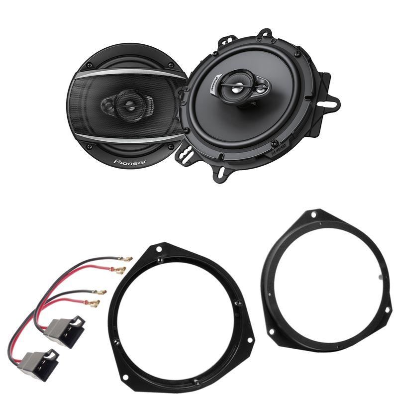 Pioneer TS-A1670F 3-Wege Lautsprecher Einbauset für Fiat Punto 188 Tür vorne