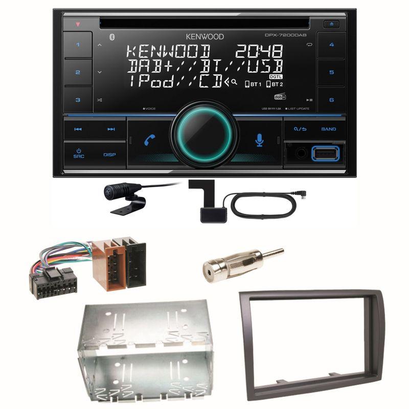 Kenwood DPX-7200DAB Bluetooth DAB+ CD MP3 Einbauset für Fiat Ducato Boxer Jumper