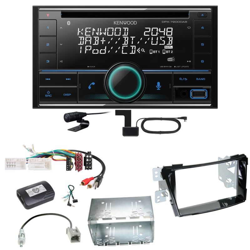 Kenwood DPX-7200DAB Bluetooth USB CD Digitalradio Einbauset für Hyundai i40 VF