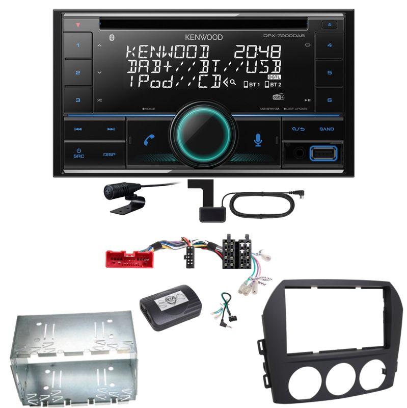 Kenwood DPX-7200DAB Bluetooth USB CD Digitalradio Einbauset für Mazda MX-5 NC