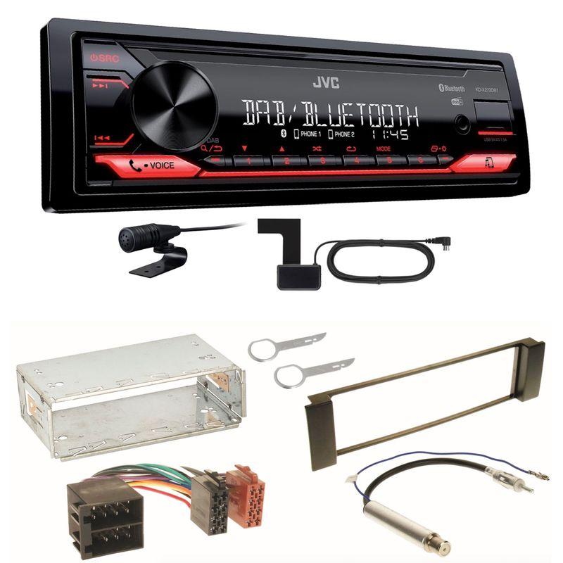 JVC KD-X272DBT Digitalradio USB Bluetooth MP3 Einbauset für Seat Leon Toledo 1M