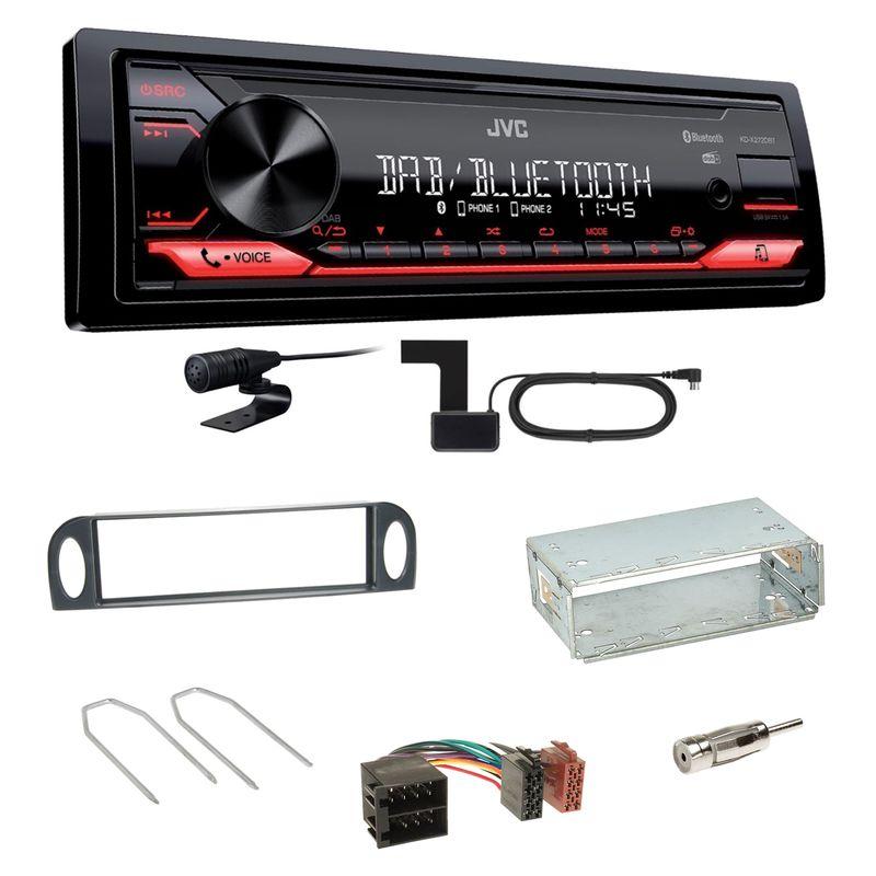 JVC KD-X272DBT Digitalradio Bluetooth MP3 Einbauset für Citroen C5 bis 07/2004