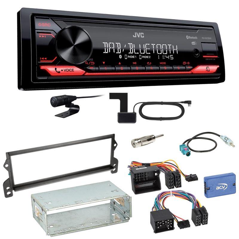 JVC KD-X272DBT Digitalradio Bluetooth FLAC USB Einbauset für MINI R50 R52 R53