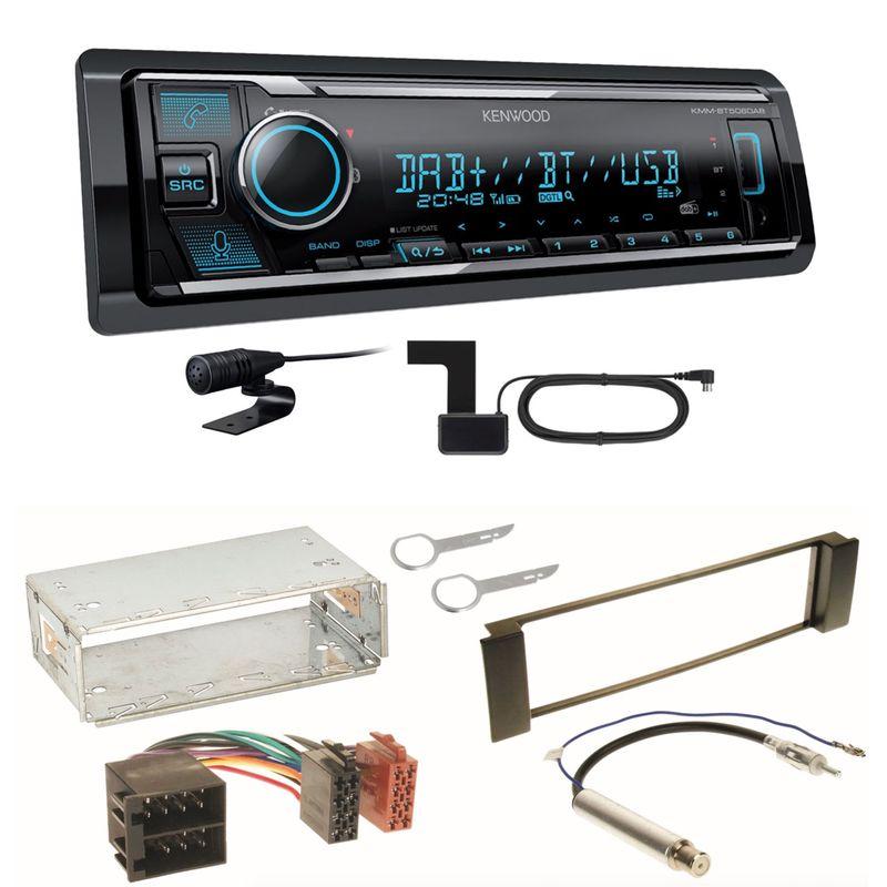 Kenwood KMM-BT506DAB DAB+ USB Bluetooth MP3 Einbauset für Seat Leon Toledo 1M