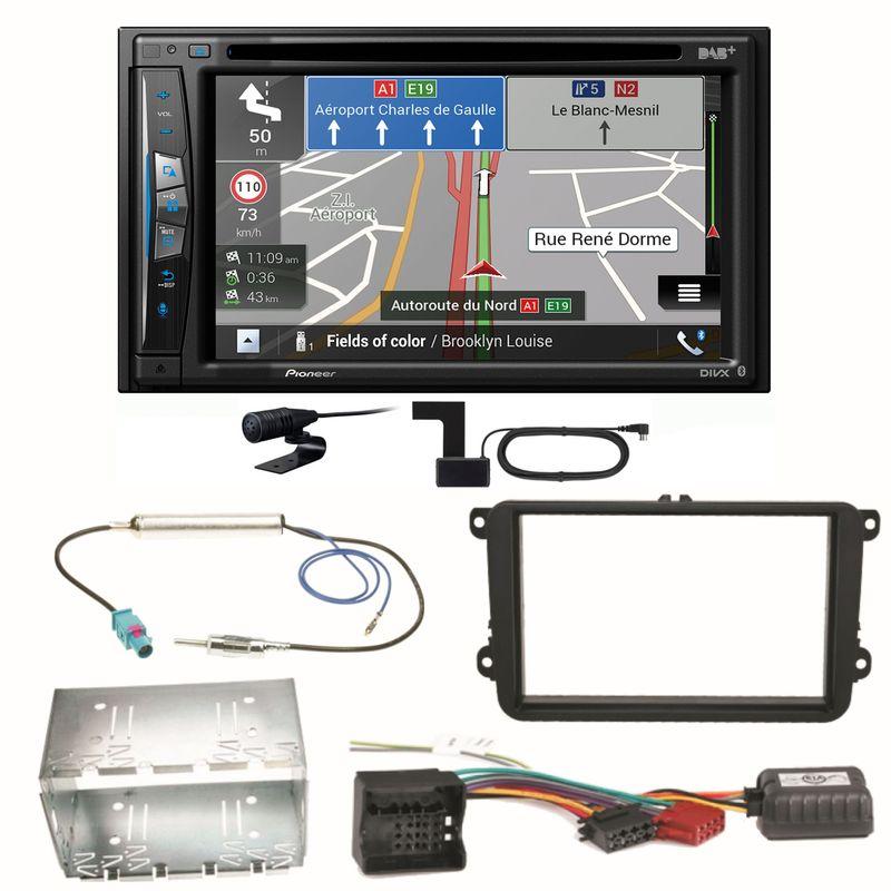 Pioneer AVIC-Z730DAB Navigation USB CD Einbauset für Seat Leon Alhambra Altea XL