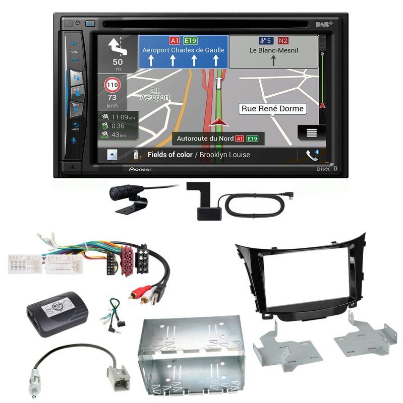 Pioneer AVIC-Z730DAB Navigation Bluetooth USB Einbauset für Hyundai i30 GD GDH