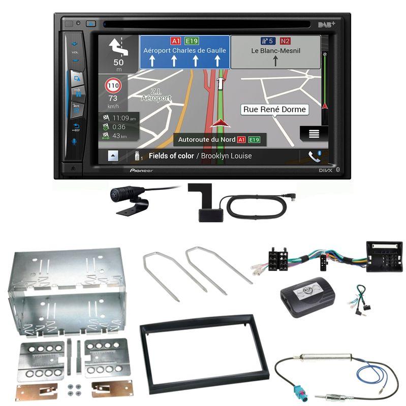 Pioneer AVIC-Z730DAB Navigation MP3 Einbauset für Peugeot 207 307 Partner Expert