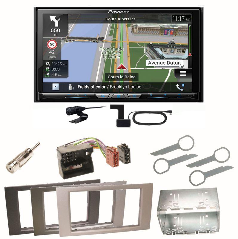 Pioneer AVIC-Z830DAB Bluetooth USB Einbauset für Ford Focus C-Max Fiesta Transit