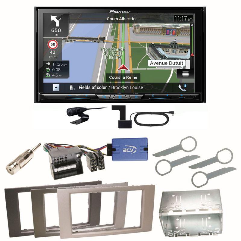 Pioneer AVIC-Z830DAB Bluetooth USB Einbauset für Ford Kuga Fusion Galaxy S-Max