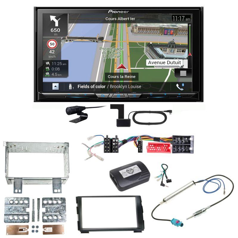 Pioneer AVIC-Z830DAB Navigation Bluetooth USB CD MP3 Einbauset für Kia Cee'd ED