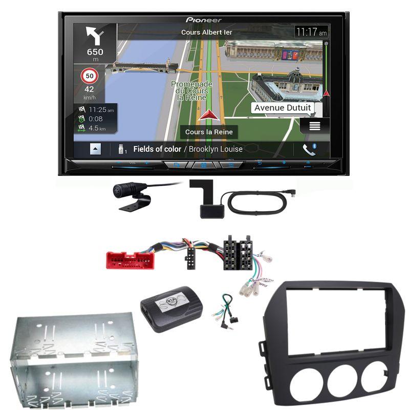 Pioneer AVIC-Z830DAB Navigation Bluetooth USB MP3 Einbauset für Mazda MX-5 NC