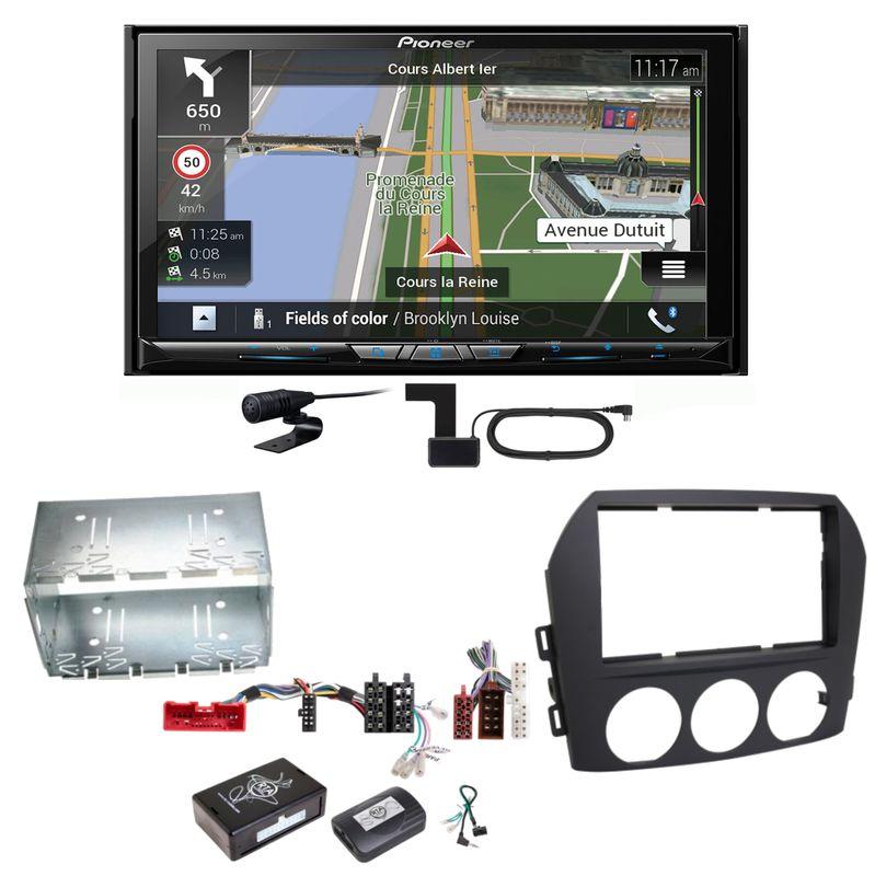 Pioneer AVIC-Z830DAB Navigation Bluetooth USB MP3 Einbauset für Mazda MX-5 NC FL