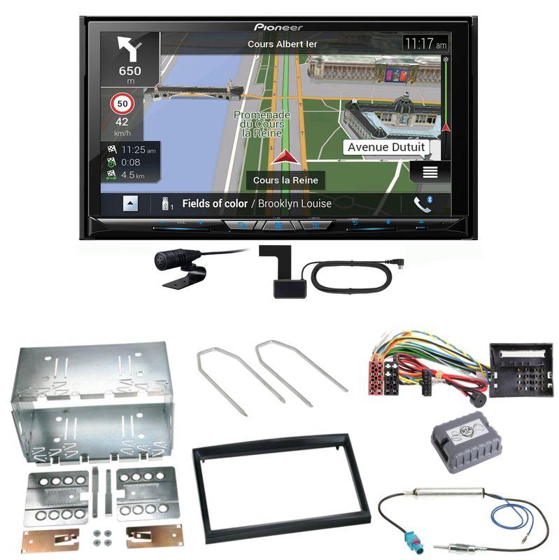 Pioneer AVIC-Z830DAB Navigation MP3 Einbauset für Citroen C2 C3 Berlingo Jumpy