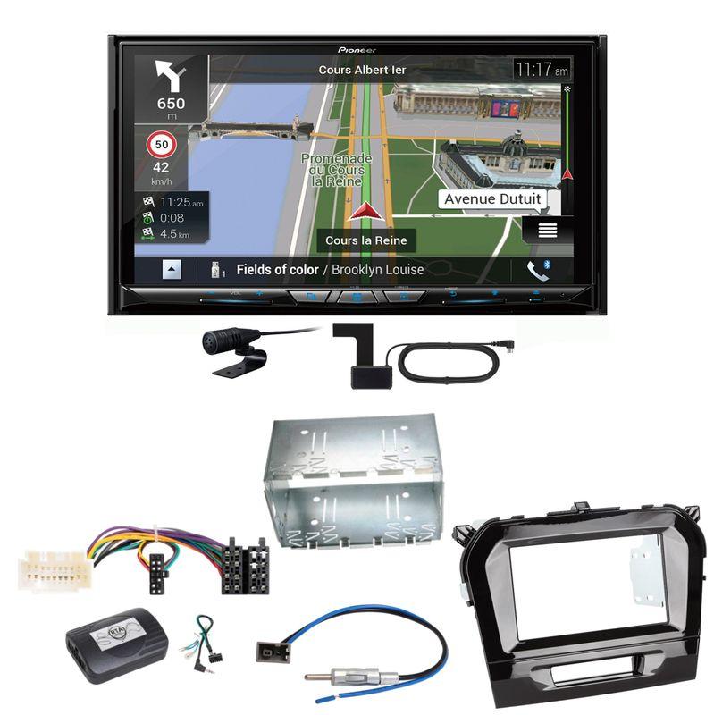 Pioneer AVIC-Z930DAB Navigation Bluetooth USB Einbauset für Suzuki Vitara LY