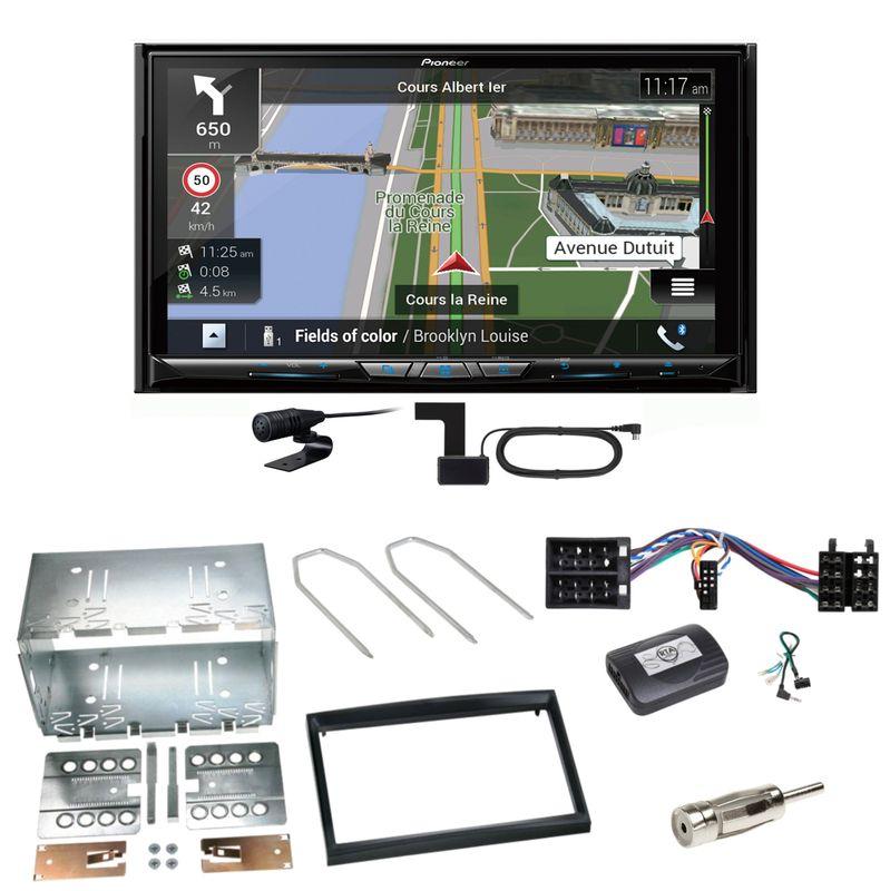Pioneer AVIC-Z930DAB Navigation USB MP3 Einbauset für Peugeot 307 Citroen C2 C3