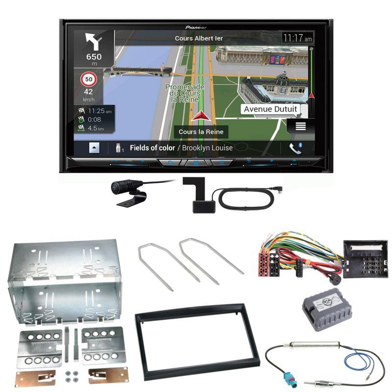 Pioneer AVIC-Z930DAB Navigation MP3 Einbauset für Citroen C2 C3 Berlingo Jumpy