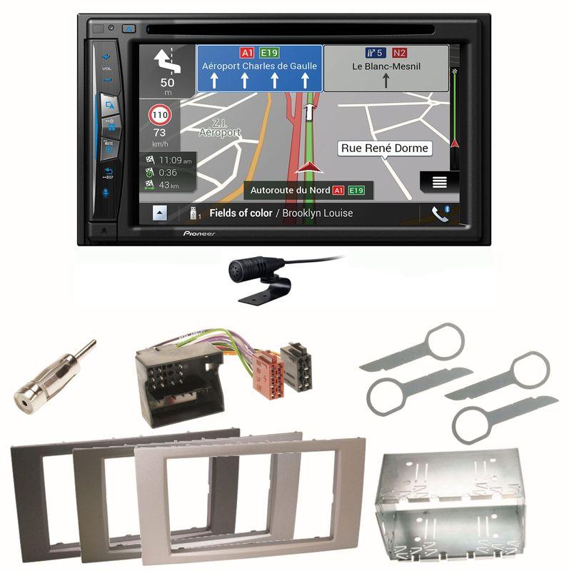 Pioneer AVIC-Z630BT Bluetooth USB Einbauset für Ford Focus C-Max Fiesta Transit