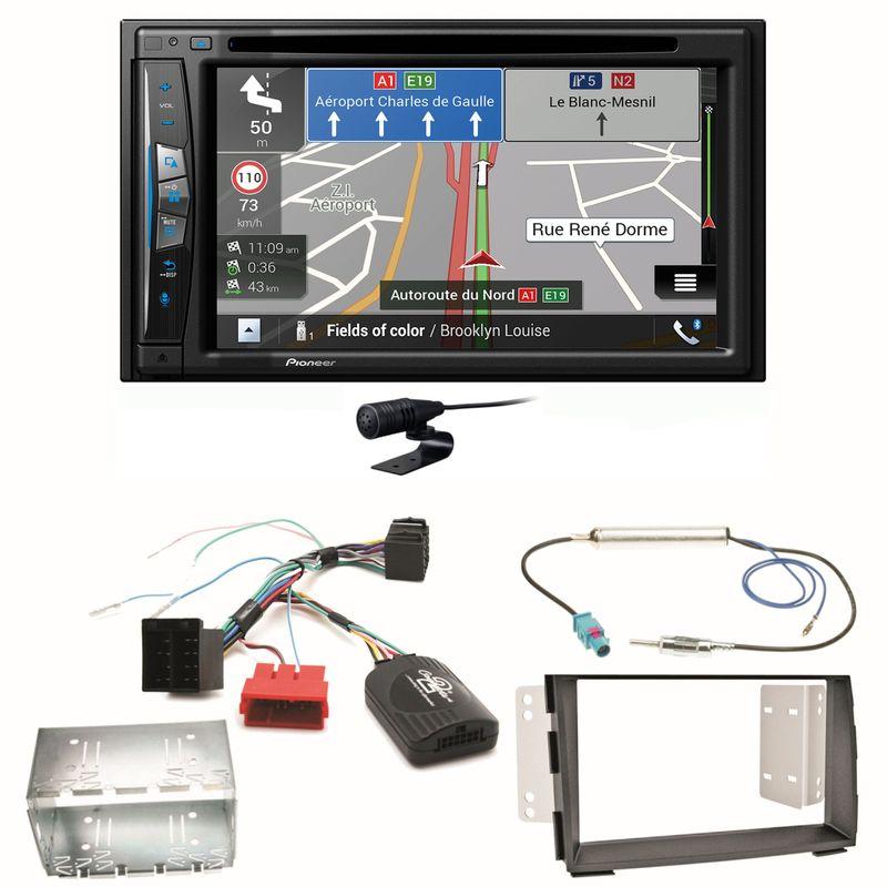 Pioneer AVIC-Z630BT Navigation Bluetooth CD USB MP3 FLAC Einbauset für Kia Venga