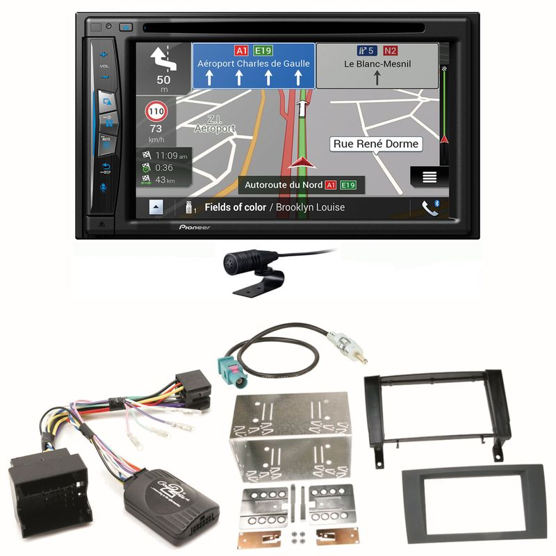 Pioneer AVIC-Z630BT Navigation Bluetooth CD MP3 Einbauset für Mercedes SLK R171
