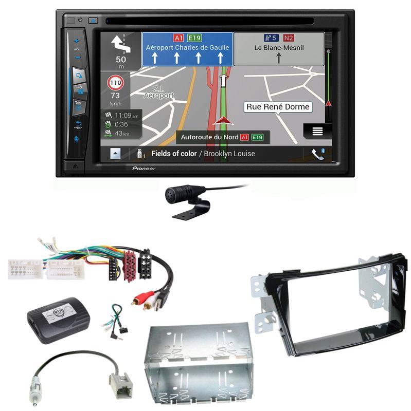 Pioneer AVIC-Z630BT Navigation Bluetooth USB MP3 Einbauset für Hyundai i40 VF