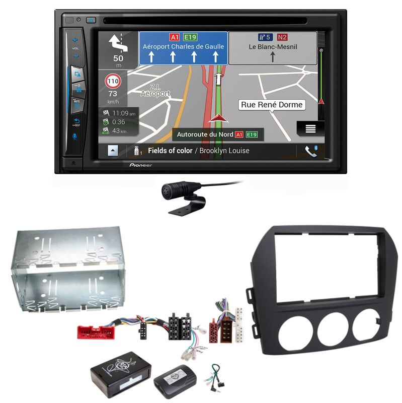 Pioneer AVIC-Z630BT Navigation Bluetooth USB MP3 CD Einbauset für Mazda MX-5 NC